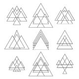 Set of trendy geometric shapes. Geometric hipster logotypes Stock Photography
