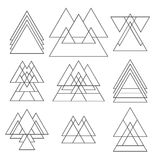 Set of trendy geometric shapes. Geometric icons collection Royalty Free Stock Photos