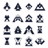 Set of trendy geometric shapes. Hipster logotypes collection. Tr Royalty Free Stock Image