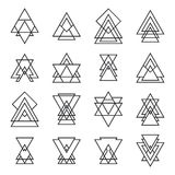 Set of trendy geometric shapes. Hipster logotypes collection Stock Photography