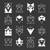 Set of trendy geometric shapes. Religion, philosophy Royalty Free Stock Images
