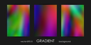 Set of Trendy Gradient Backgrounds for Cover, Flyer, Brochure, Poster, Wedding Invitation, Wallpaper, Backdrop. Stock Images