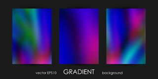 Set of Trendy Gradient Backgrounds for Cover, Flyer, Brochure, Poster, Wedding Invitation, Wallpaper, Backdrop. Stock Photo