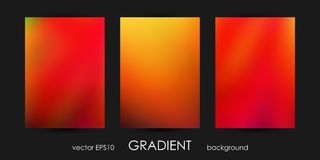 Set of Trendy Gradient Backgrounds for Cover, Flyer, Brochure, Poster, Wedding Invitation, Wallpaper, Backdrop. Royalty Free Stock Image