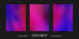 Set of Trendy Gradient Backgrounds for Cover, Flyer, Brochure, Poster, Wedding Invitation, Wallpaper, Backdrop. Stock Photos