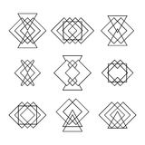 Set of trendy hipster geometric shapes. Ethnic tattoo. Geometric Stock Photography
