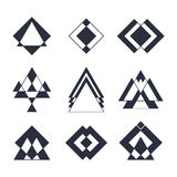 Set of trendy hipster geometric shapes. Geometric logotypes or i Stock Photo