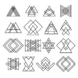 Set of trendy hipster geometric shapes. Geometric logotypes or i Stock Photography