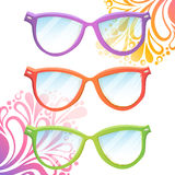 Set of trendy hipster glasses Stock Images