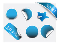 Set of trendy sticker Stock Photography