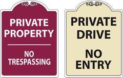 Set of Trespassing sign. Easy to modify Stock Image