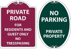 Set of Trespassing sign. Easy to modify Royalty Free Stock Images