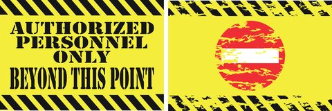Set of Trespassing sign. Easy to modify Royalty Free Stock Photo