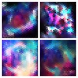 Set of triangle background with galaxy texture Stock Image