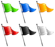 Set of triangle flags Royalty Free Stock Image