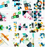 Set of triangle geometric abstract backgrounds Stock Image