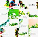 Set of triangle geometric abstract backgrounds Royalty Free Stock Photo
