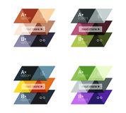Set of  triangle geometric infographic Stock Image