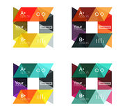 Set of  triangle geometric infographic Royalty Free Stock Image
