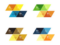 Set of  triangle geometric infographic Stock Photo