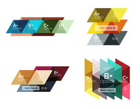 Set of  triangle geometric infographic Stock Photography
