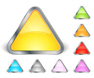 Set of triangle icons Royalty Free Stock Photo