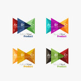 Set of triangle option infographic layouts. Select your product concept, make a choice idea Royalty Free Stock Image