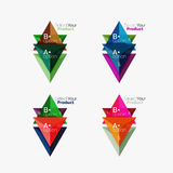 Set of triangle option infographic layouts. Select your product concept, make a choice idea Royalty Free Stock Photography