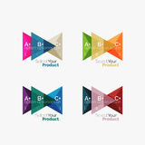 Set of triangle option infographic layouts. Select your product concept, make a choice idea Royalty Free Stock Photo