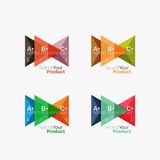 Set of triangle option infographic layouts Stock Images