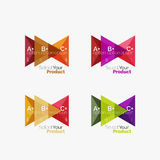 Set of triangle option infographic layouts. Select your product concept, make a choice idea vector illustration