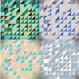 Set of triangle patterns Royalty Free Stock Images