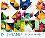 Set of triangle shaped abstract backgrounds Stock Image