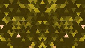 A set of triangles and shapes is moving and changing colors. Three-dimensional random reflective kaleidoscope block stock illustration