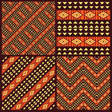 Set of tribal african seamless patterns vector illustration