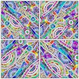 Set of tribal doddle ethnic pattern. Royalty Free Stock Photos