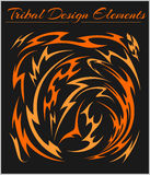 Set of Tribal Elements on a black background. Set of Tribal Elements isolated on a black background Stock Images