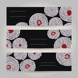 Set of Tribal Horizontal Banners. Abstract African ornament. Vec Stock Photography