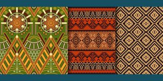 Set of Tribal seamless patterns. vector illustration