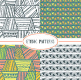 Set of tribal seamless patterns. It can be used for wallpaper, pattern fills, web page background, surface textures Royalty Free Stock Photo