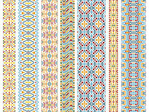 Set of tribal seamless patterns Stock Images