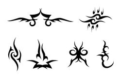Set of tribal signs Royalty Free Stock Photos