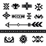 Set of tribal symbols Stock Photography