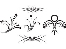 Set  tribal tattoo Stock Images
