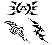 Set of tribal tattoo elements Royalty Free Stock Photography