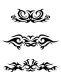 Set of tribal tattoo elements Royalty Free Stock Photos