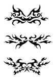 Set of tribal tattoo elements Stock Images