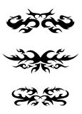 Set of tribal tattoo elements Stock Photography