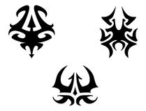 Set of tribal tattoo elements Royalty Free Stock Photo