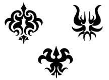 Set of tribal tattoo elements royalty free stock photo